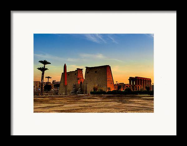 Egypt Framed Print featuring the photograph Seeking The Ancient Ruins Of Thebes In Luxor by Mark E Tisdale