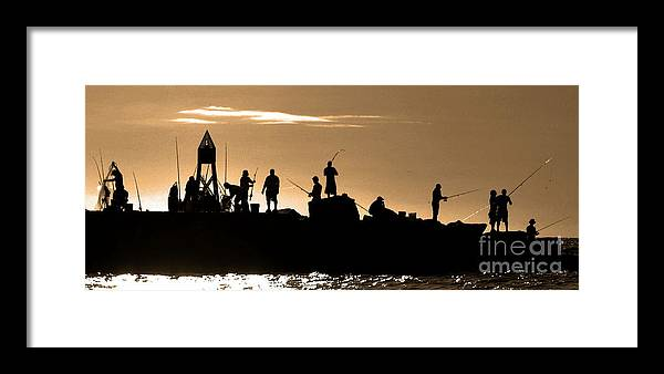 Sunrise Framed Print featuring the photograph Seipa Fisfing by David Call