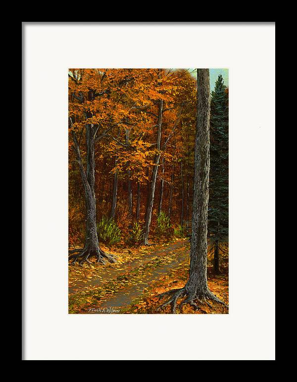 Landscape Framed Print featuring the painting Seldom Used by Frank Wilson