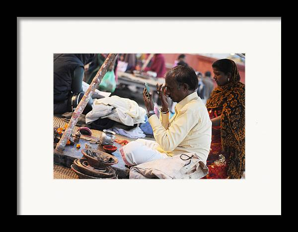 India Framed Print featuring the photograph Self Decoration by Money Sharma