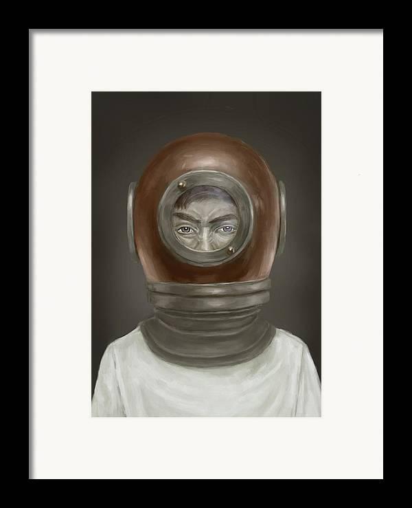 Digital Framed Print featuring the digital art Self Portrait by Balazs Solti