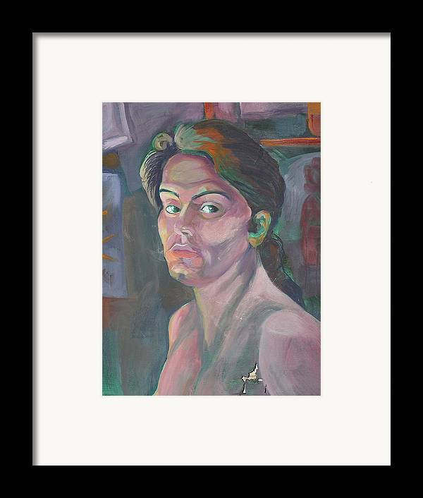 Framed Print featuring the painting Self Portrait by Julie Orsini Shakher