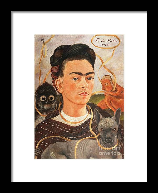 Pd Framed Print featuring the painting Self Portrait With Changuito by Roberto Prusso