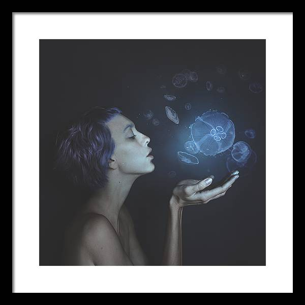 Surrreal Framed Print featuring the photograph Self-portrait With Jellyfishes by Anka Zhuravleva