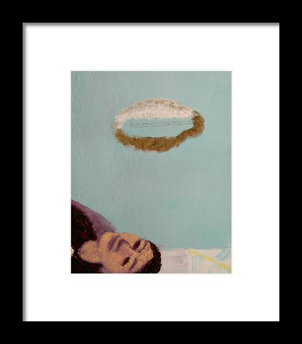 Portrait Framed Print featuring the painting Self-portrait4 by Min Zou