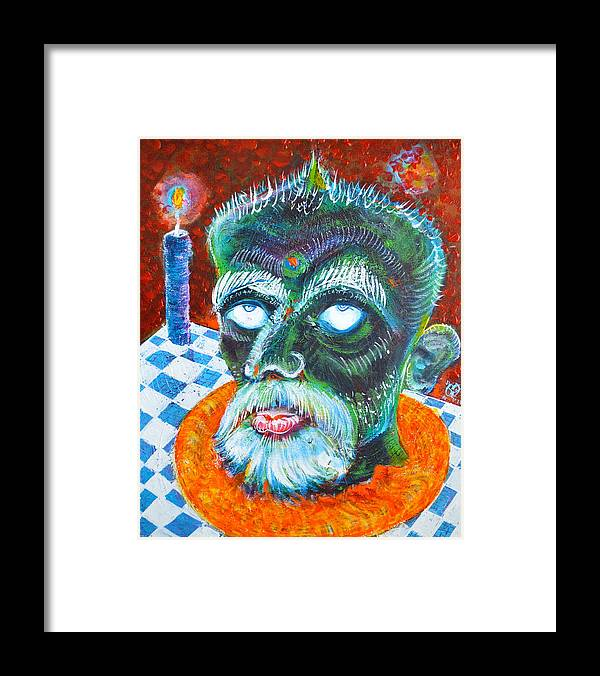 Portrait Framed Print featuring the painting Selfportrait as St. john the Baptist by ITI Ion Vincent Danu