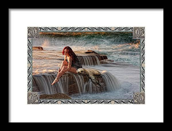 Fantasy Framed Print featuring the painting Selkie Girl by Alice Langlois