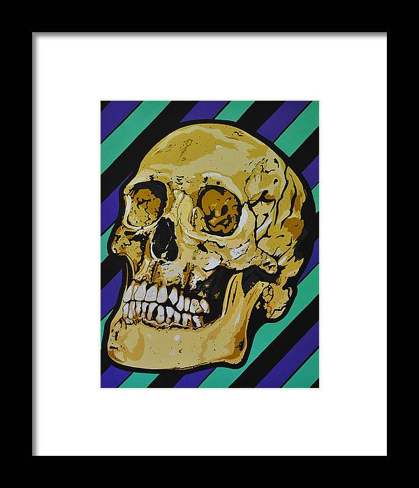 Skull Framed Print featuring the painting Semper Fidelis Ad Mortem by Jody Roun