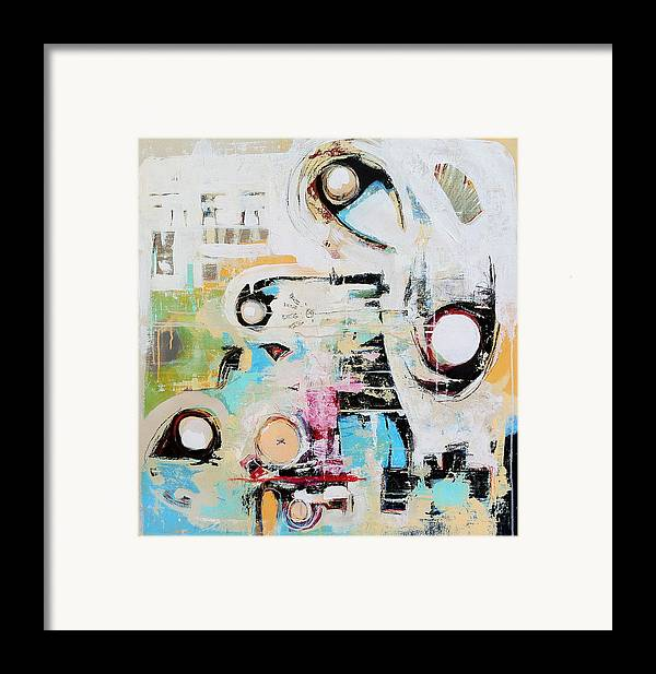 Art Framed Print featuring the painting Sensory Response by Mark M Mellon