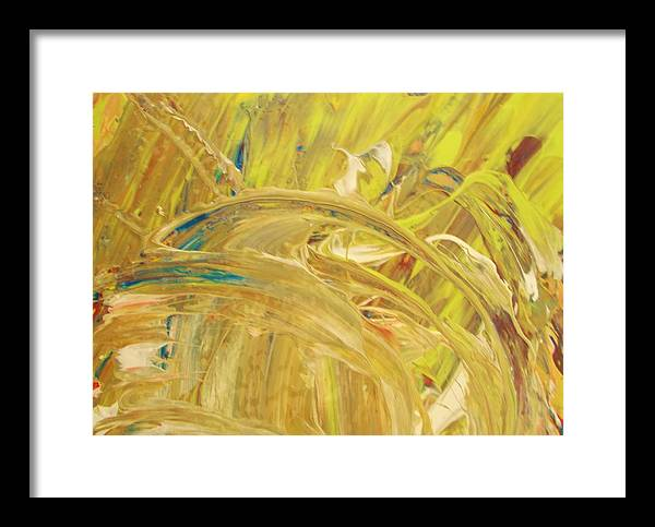 Original Framed Print featuring the painting Sensual by Artist Ai