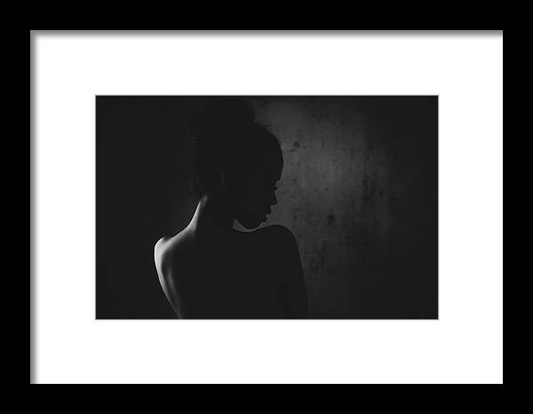 Dark Framed Print featuring the photograph Sensual Connection by Arief Putranto
