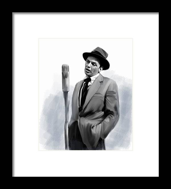 Sentimental Bliss Frank Sinatra Framed Print by Iconic Images Art ...