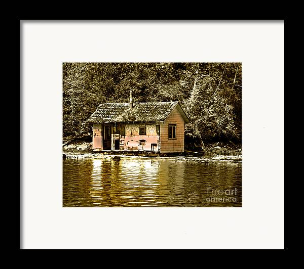 Sepia Framed Print featuring the photograph Sepia Floating House by Robert Bales