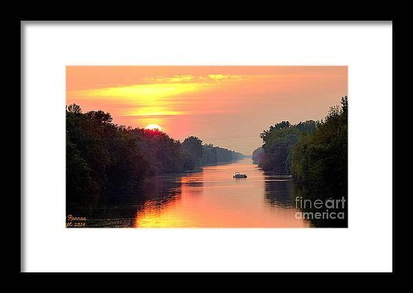 Sun Framed Print featuring the photograph September Sunset II by Rennae Christman