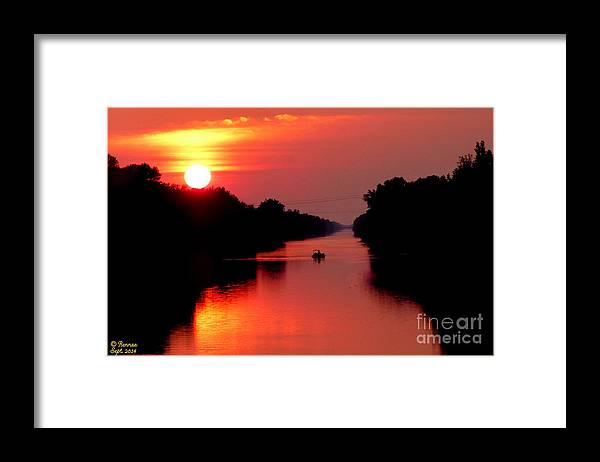 Landscape Framed Print featuring the photograph September Sunset by Rennae Christman