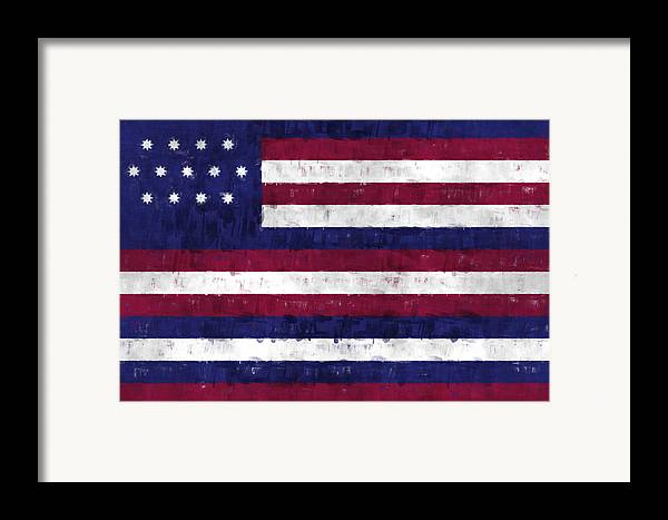 American Flags Framed Print featuring the digital art Serapis Flag by World Art Prints And Designs