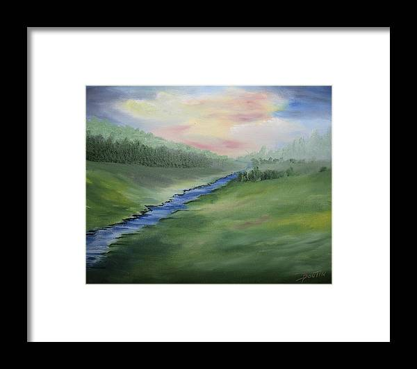 Paint Framed Print featuring the painting Serenity by Jacques Boutin