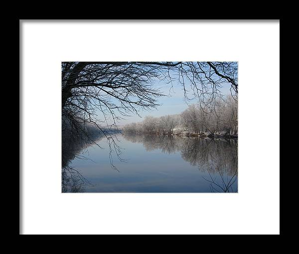 River Framed Print featuring the photograph Serenity by Laura Corebello