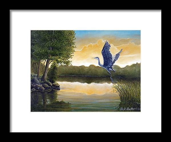 Rick Huotari Framed Print featuring the painting Serenity by Rick Huotari