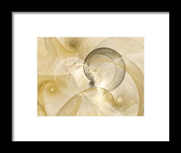 Abstract Framed Print featuring the digital art Series Abstract Art In Earth Tones 3 by Gabiw Art