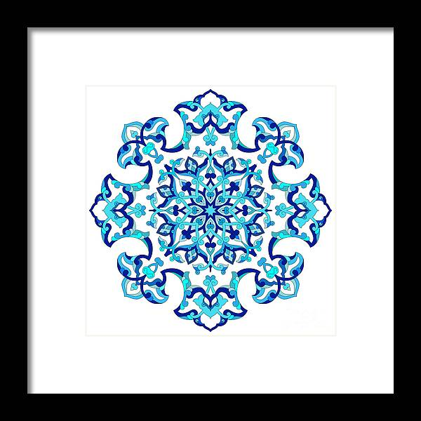 Islamic Framed Print featuring the digital art Series Of Patterns Designed By Taking by Antsvgdal