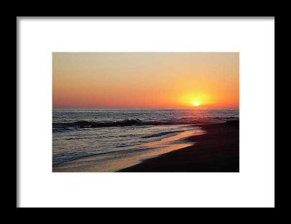 Scenics Framed Print featuring the photograph Setting Sun On A Crystal Cove Beach by Driendl Group