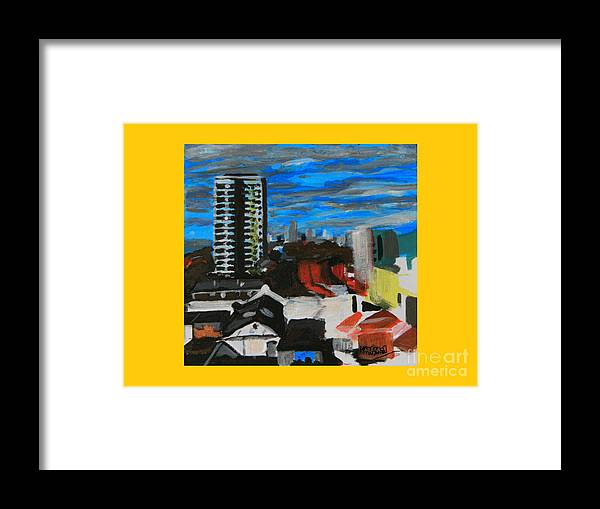 Settle Point Framed Print featuring the painting Settle Point - Plaistow East London by Mudiama Kammoh