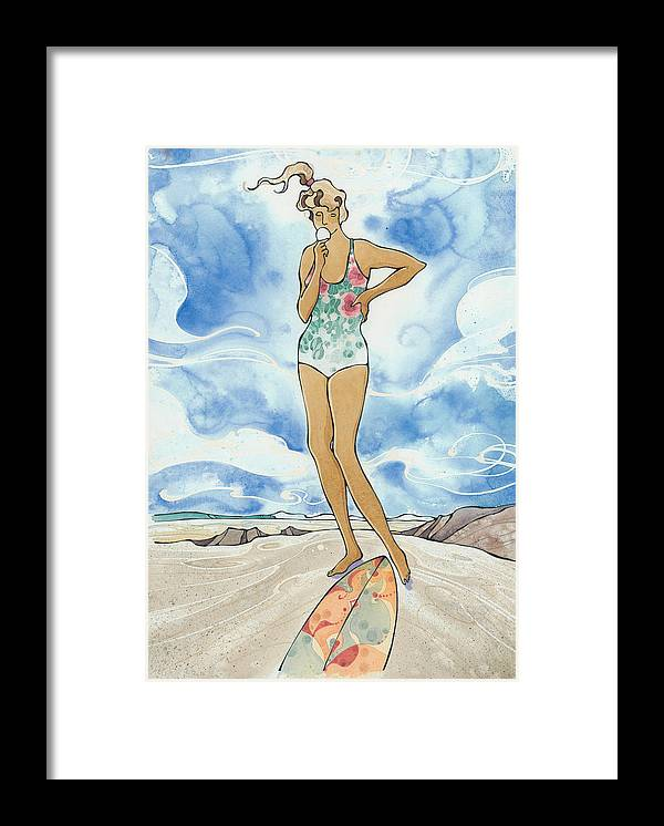Fine Art Framed Print featuring the painting Sex Wax by Harry Holiday