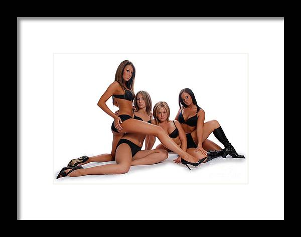 Models Framed Print featuring the photograph Sexy Times 4 by Jt PhotoDesign