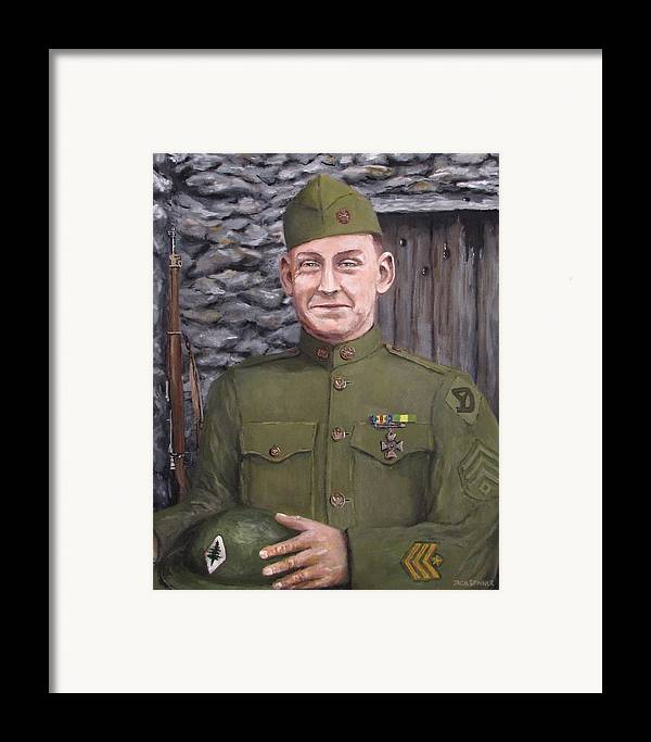 Sgt Sam Avery Framed Print featuring the painting Sgt Sam Avery by Jack Skinner