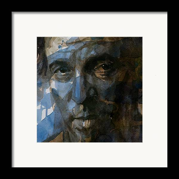 Bruce Springsteen Framed Print featuring the painting Shackled And Drawn by Paul Lovering