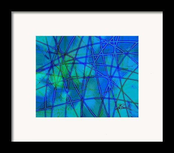 Blue Framed Print featuring the digital art Shades Of Blue  by Ann Powell