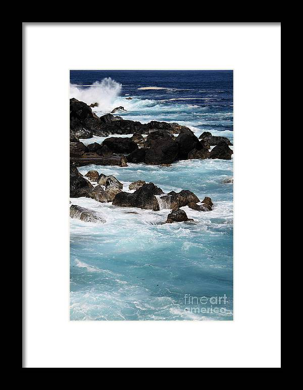 Seascape Framed Print featuring the photograph Shades Of Blue by David Van der Merwe