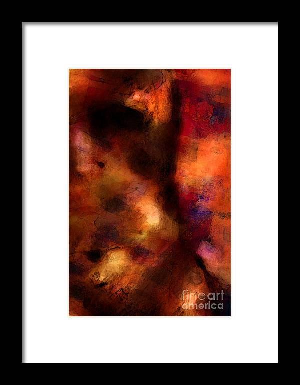 Abstract Framed Print featuring the digital art Shadow Dance by Thomas Zuber