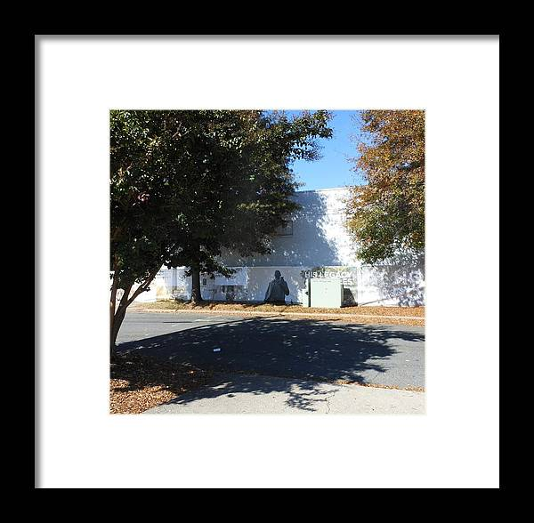 Trees Framed Print featuring the photograph Shadow Man by Beebe Barksdale-Bruner