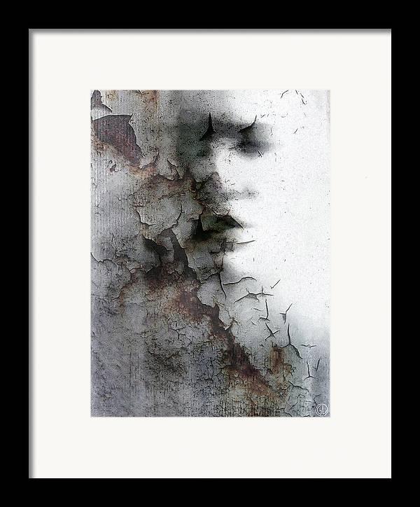 Woman Framed Print featuring the digital art Shadow On A Wall by Gun Legler