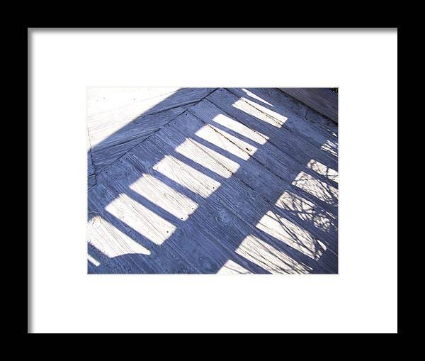 Beach Framed Print featuring the photograph Shadow Rail by Terry Cobb