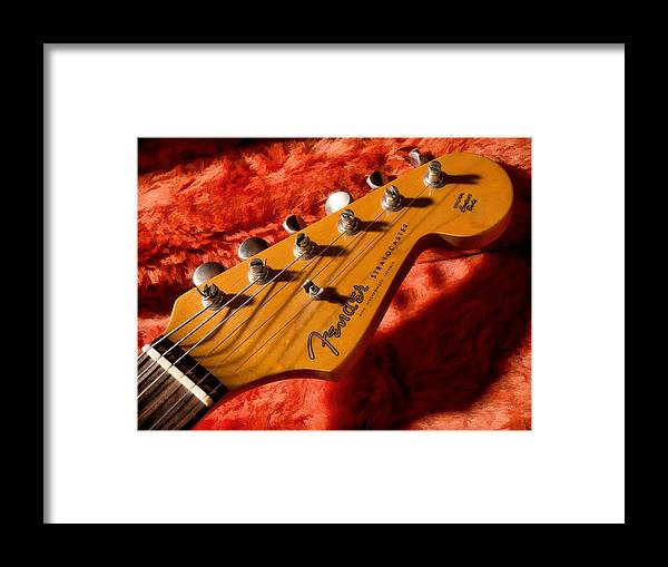 Guitar Framed Print featuring the digital art Shadowcaster by Douglas Pittman