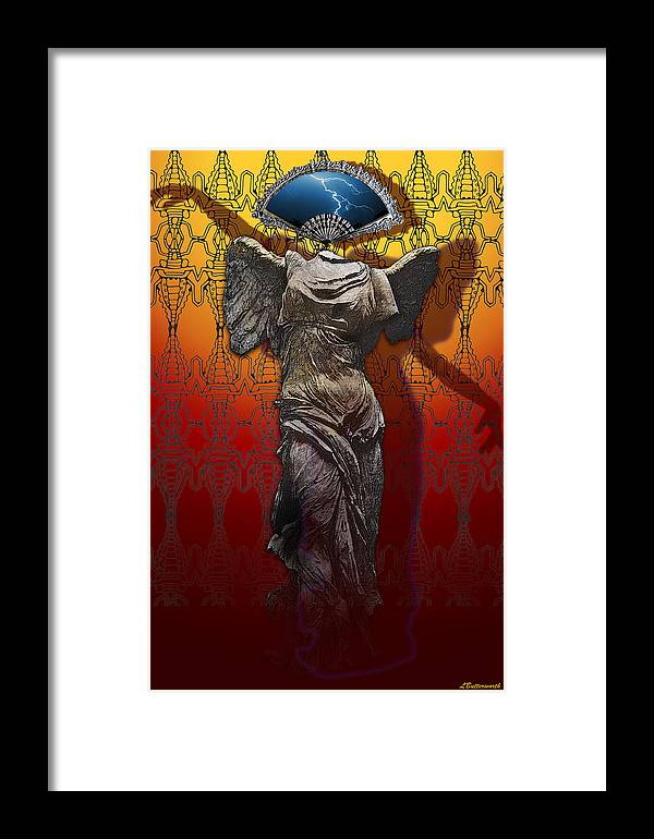 Surrealism Framed Print featuring the digital art Shadowdancer by Larry Butterworth