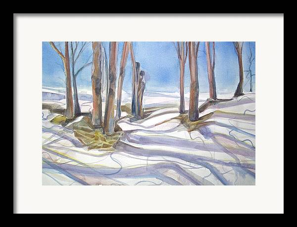 Shadows Framed Print featuring the painting Shadowplay by Grace Keown