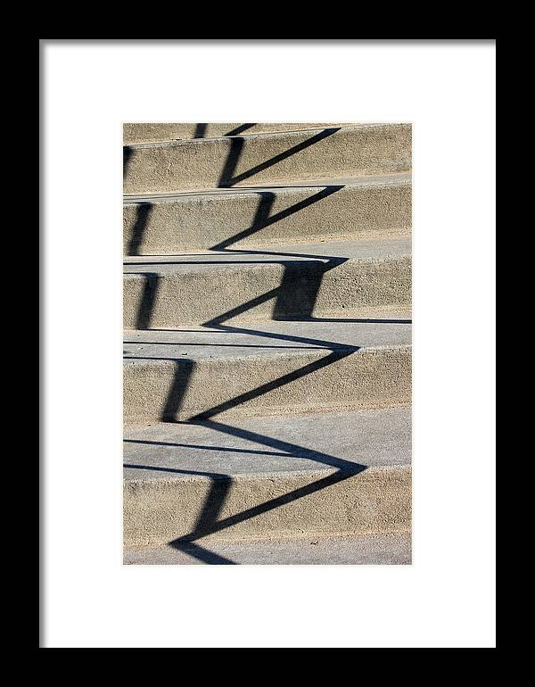 Shadow Framed Print featuring the photograph Shadows 1 by Mary Bedy