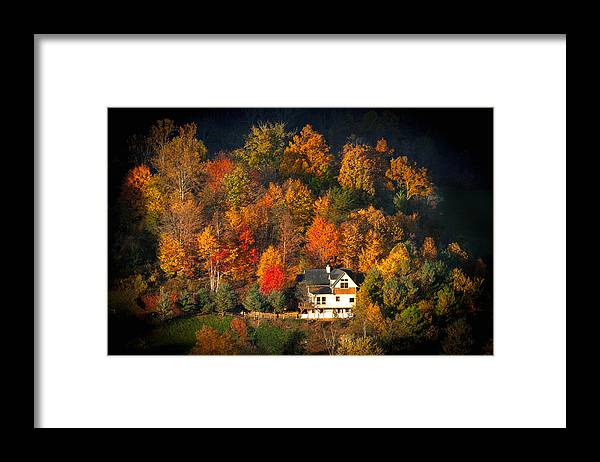 Abandoned Framed Print featuring the photograph Shadows Of A Colorful Past by Lynn Bauer