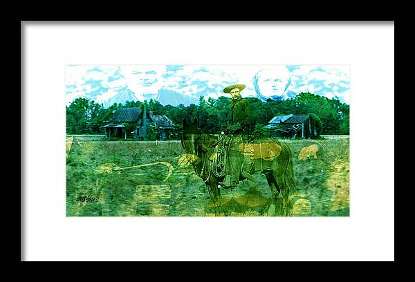 Shadow On The Land Framed Print featuring the digital art Shadows On The Land by Seth Weaver