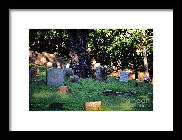 Cemetery Framed Print featuring the photograph Shady Rest by Joseph Perno