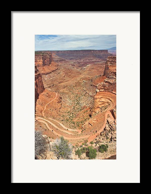 3scape Photos Framed Print featuring the photograph Shafer Trail by Adam Romanowicz
