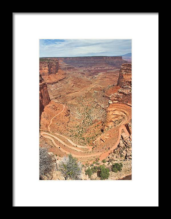 3scape Framed Print featuring the photograph Shafer Trail by Adam Romanowicz