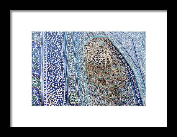 Architecture Framed Print featuring the photograph Shah-i-zinda by Kendell Timmers