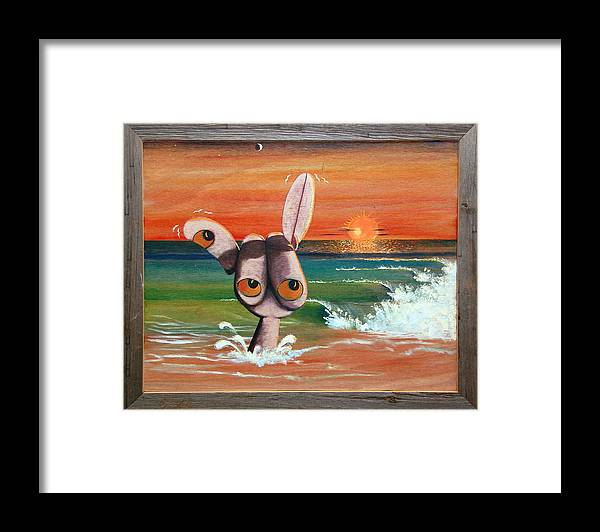 Shaka Framed Print featuring the painting Shaka by Fred Paddock