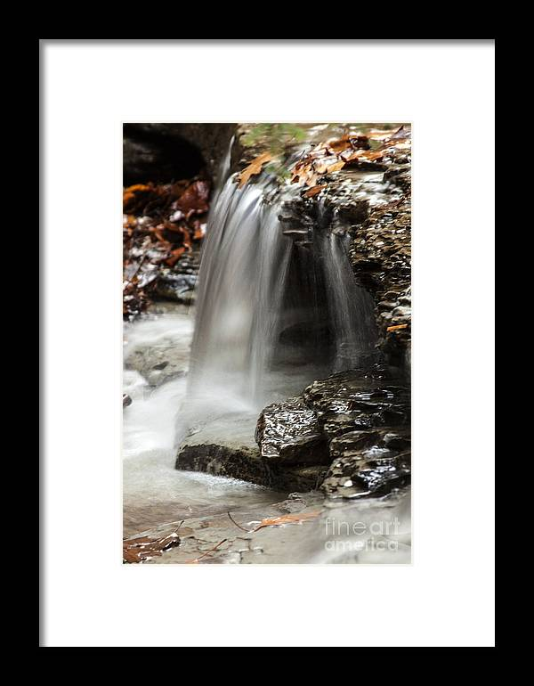 Waterfall Framed Print featuring the photograph Shale Creek Waterfall by Darleen Stry