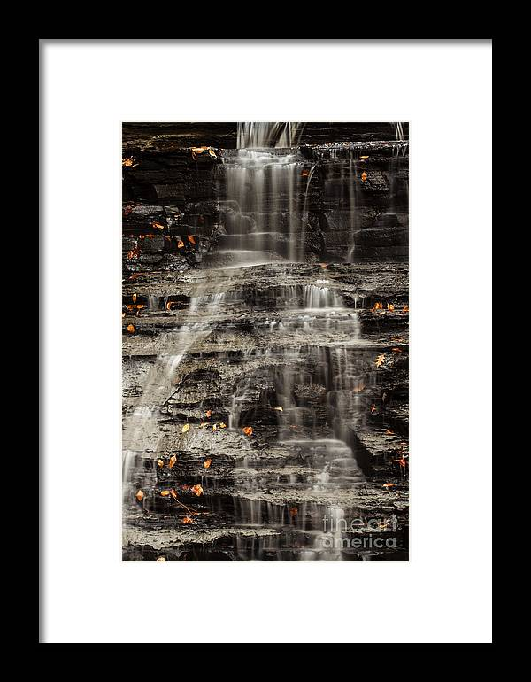 Waterfall Framed Print featuring the photograph Shale Waterfalls Cascade by Darleen Stry